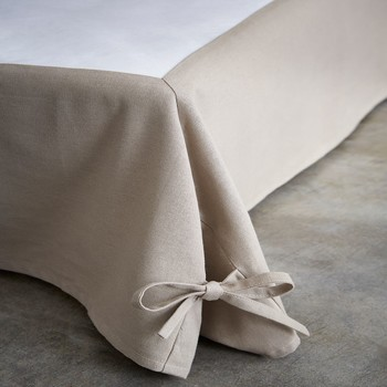 Home Fitted sheet Today CACHE SOMMIER Beige