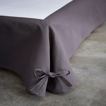 Home Fitted sheet Today CACHE SOMMIER Grey