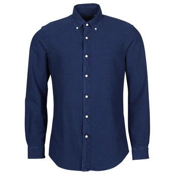 material Men long-sleeved shirts Polo Ralph Lauren TRENNYB Velvet / Blue