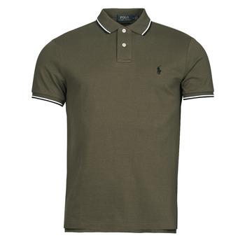 material Men short-sleeved polo shirts Polo Ralph Lauren HOULIA Kaki