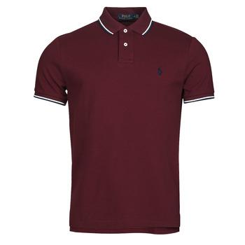 material Men short-sleeved polo shirts Polo Ralph Lauren HOULIA Bordeaux