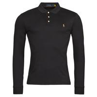material Men long-sleeved polo shirts Polo Ralph Lauren PERINA Black