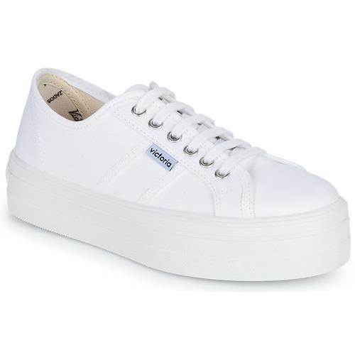 Shoes Women Low top trainers Victoria BLUCHER LONA PLATAFORMA White