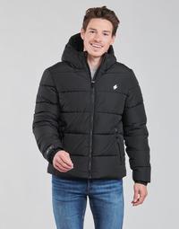 material Men Duffel coats Superdry HOODED SPORTS PUFFER Black