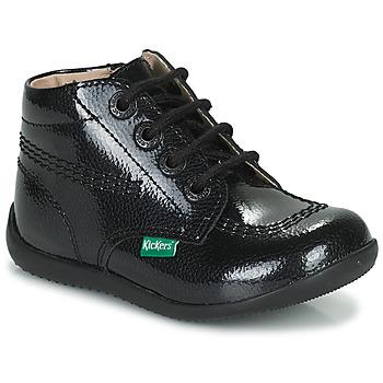 Shoes Girl Mid boots Kickers BILLISTA ZIP Black