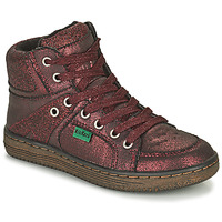 Shoes Girl Mid boots Kickers LOWELL Bordeaux