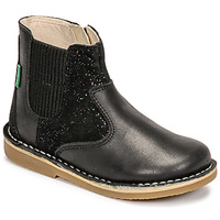 Shoes Girl Mid boots Kickers MAELIO Black