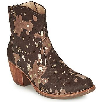 Shoes Women Ankle boots Neosens MUNSON Brown / Gold