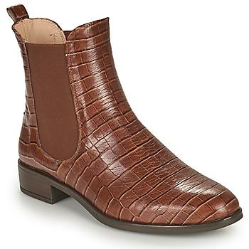Shoes Women Mid boots Unisa BOYER Camel