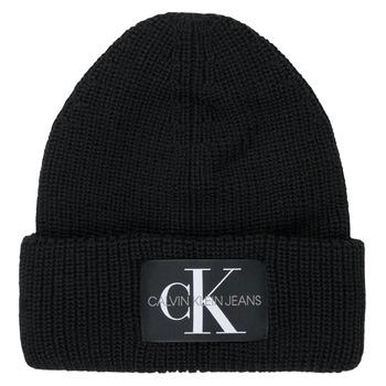 Accessorie Women hats Calvin Klein Jeans MONOGRAM BEANIE WL Black