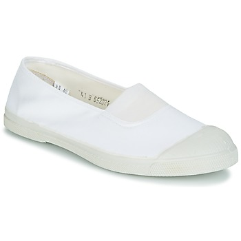 Shoes Women Ballerinas Bensimon TENNIS ELASTIQUE White