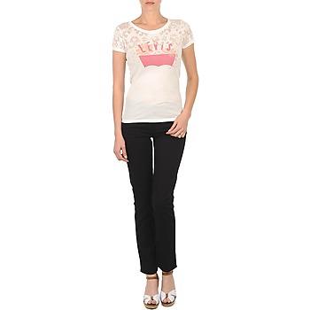 material Women slim jeans Levi's CL DC SLIM 5 PKT Black