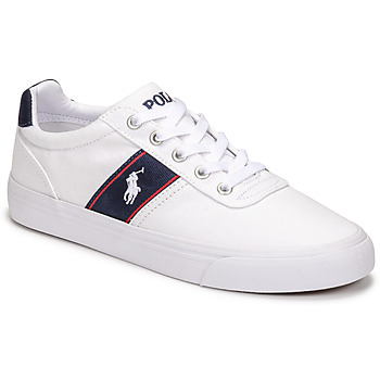 Shoes Men Low top trainers Polo Ralph Lauren HANFORD RECYCLED CANVAS White