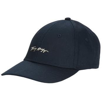 Accessorie Women Caps Tommy Hilfiger SIGNATURE CAP Marine