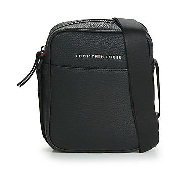 Bags Men Pouches / Clutches Tommy Hilfiger ESSENTIAL PU MINI REPORTER Black