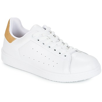 Shoes Women Low top trainers Yurban SATURNA White / GOLD