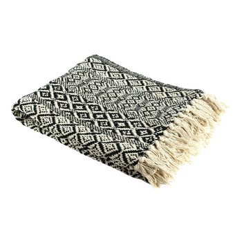 Home Blankets, throws The home deco factory MIRAGE Ecru / Black