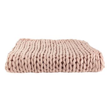 Home Blankets, throws The home deco factory CHUNKY Pink