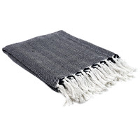 Home Blankets, throws The home deco factory SOPHIE White-blue / Marine