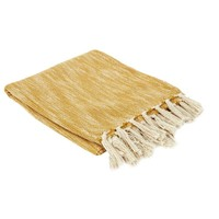 Home Blankets, throws The home deco factory ELENA White / Mustard