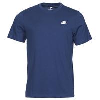 material Men short-sleeved t-shirts Nike NIKE SPORTSWEAR CLUB Blue / White
