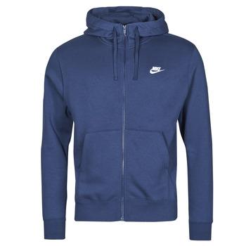 material Men sweaters Nike NIKE SPORTSWEAR CLUB FLEECE Blue / Marine / White