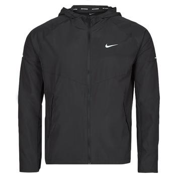 material Men Macs Nike M NK RPL MILER JKT Black / Silver