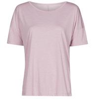 material Women short-sleeved t-shirts Nike NIKE YOGA Violet