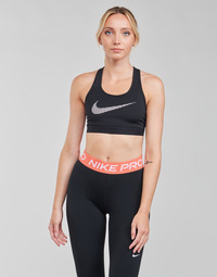 material Women Sport bras Nike W NK DF SWSH ICNCLSH GX BRA Black / White
