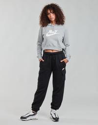 material Women Tracksuit bottoms Nike W NSW ESSNTL FLC MR CRGO PNT Black / White