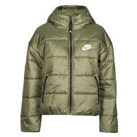 material Women Duffel coats Nike W NSW TF RPL CLASSIC HD JKT Kaki / White