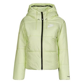 material Women Duffel coats Nike W NSW TF RPL CLASSIC TAPE JKT Green / Black / White