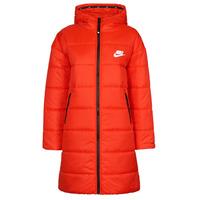 material Women Duffel coats Nike W NSW TF RPL CLASSIC HD PARKA Red / Black / White