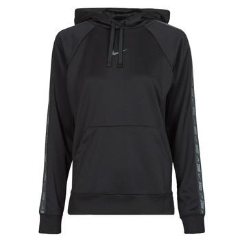 material Women sweaters Nike W NSW PK TAPE PO HOODIE Black