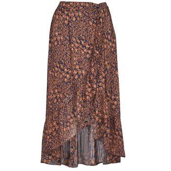 material Women Skirts Betty London PAOLA Marine / Ocre tan
