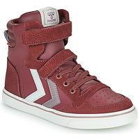Shoes Girl High top trainers Hummel SLIMMER STADIL JR Violet