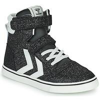 Shoes Children High top trainers Hummel SLIMMER STADIL GLITTER JR Silver