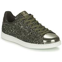 Shoes Women Low top trainers Victoria TENIS GLITTER Kaki / Silver
