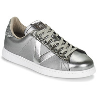 Shoes Women Low top trainers Victoria TENIS METAL Silver