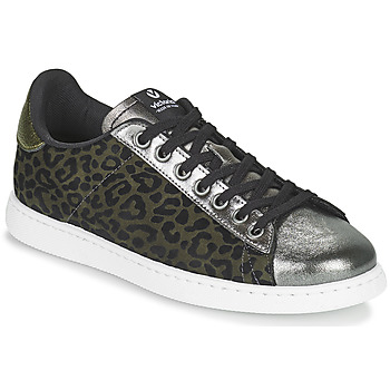 Shoes Women Low top trainers Victoria TENIS LEOPARDO Kaki