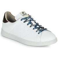 Shoes Women Low top trainers Victoria TENIS VEGANO SERPIENTE White / Bronze