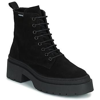 Shoes Women Mid boots Victoria CIELO SERRAJE Black