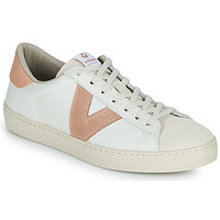 Shoes Women Low top trainers Victoria BERLIN PIEL CONTRASTE White / Pink