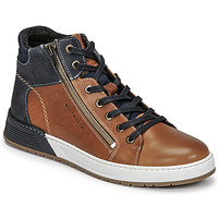 Shoes Boy Low top trainers Bullboxer AOF506COGN Brown / Marine