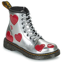 Shoes Girl Mid boots Dr Martens 1460 J Silver / Pink