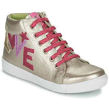 Shoes Girl High top trainers Agatha Ruiz de la Prada FLOW Beige / Pink