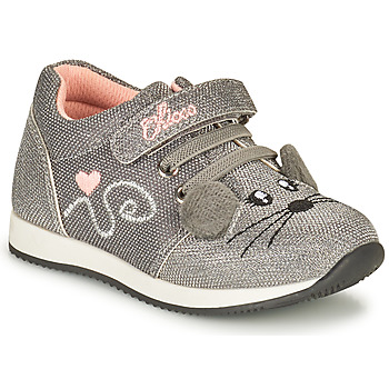 Shoes Girl Low top trainers Chicco FLEXY Silver