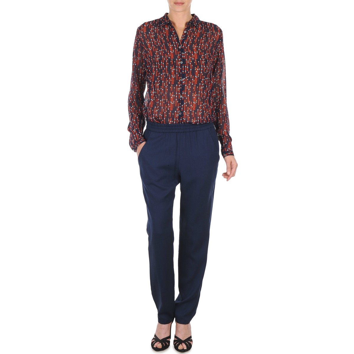 Loose trousers Marc O'Polo ALBA Blue / Dark / Red