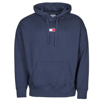 material Men sweaters Tommy Jeans TJM TOMMY BADGE HOODIE Marine