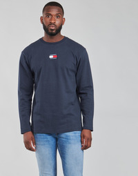 material Men Long sleeved shirts Tommy Jeans TJM LS TOMMY BADGE TEE Marine
